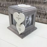 Shabby Chic PERSONALISED Rustic Wood In Memory Of WIFE Or ANY NAME Photo Cube - 232995612835